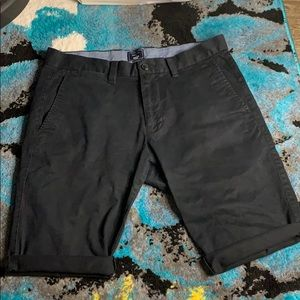 Men's Gap skinny fit black chino cut off shorts